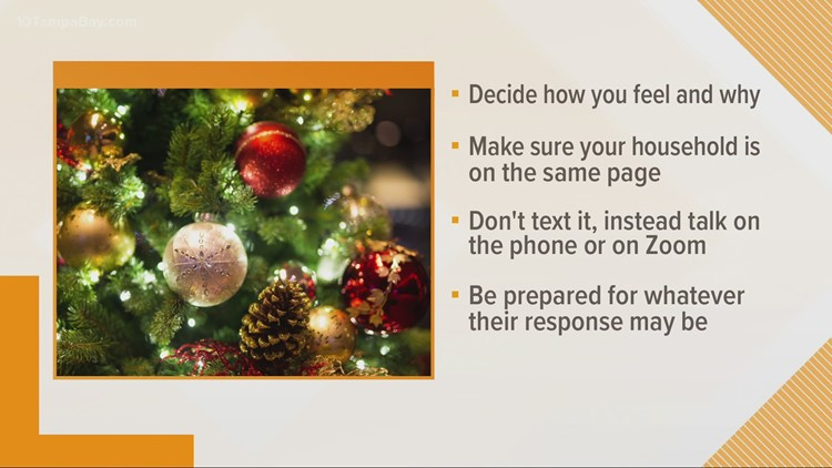 How to talk with your family about canceling holiday plans
