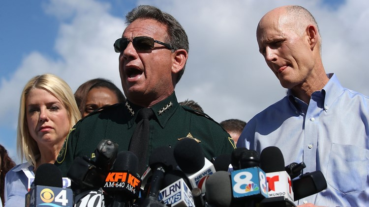 Broward sheriff speaks about no-confidence vote after ceremony for fallen heroes