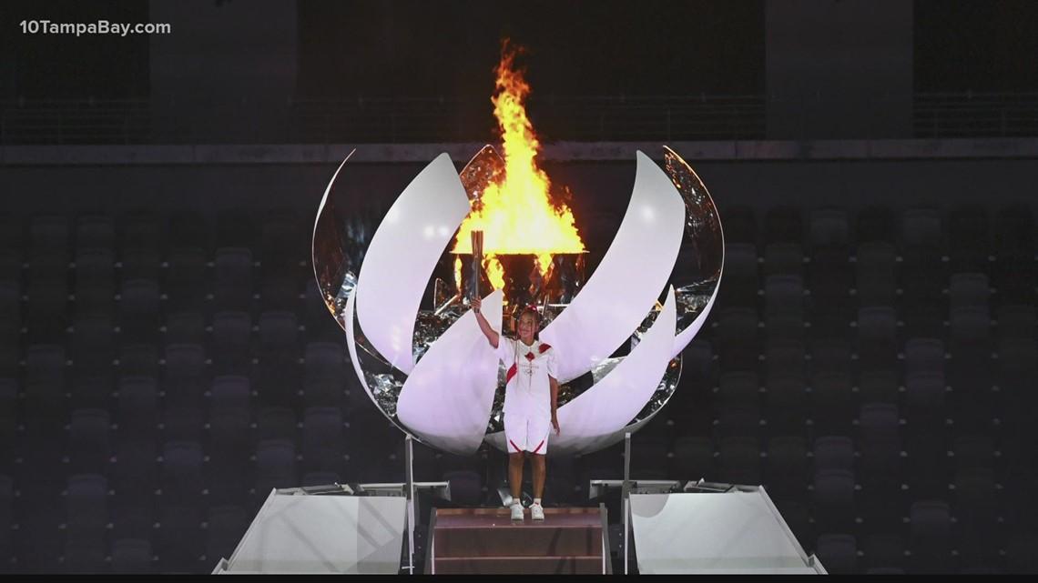Tennis star Naomi Osaka lights Tokyo Games cauldron