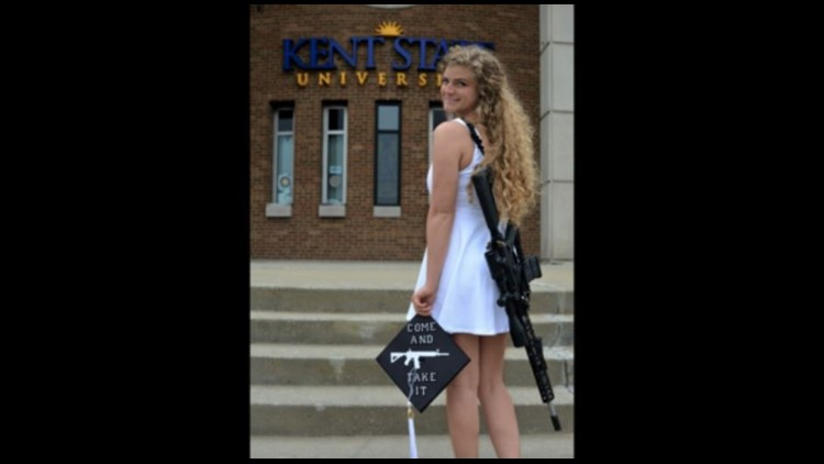 Rifle carrying Kent State grad talks guns, death threats and going viral