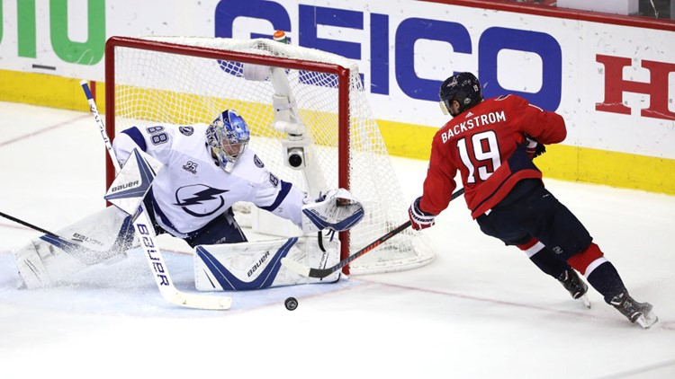 The Tampa Bay Lightning edged the Washington Capitals 4-2 on Thursday night, evening the Eastern Conference final at two games apiece.