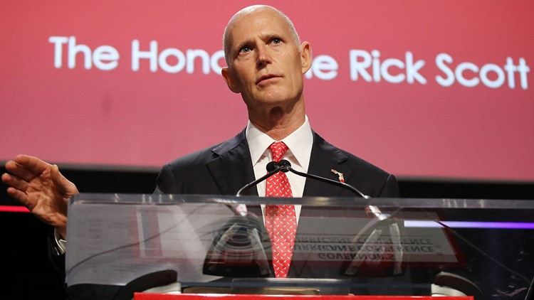 55 sheriffs from around the state endorsed the governor to unseat current Sen. Bill Nelson.