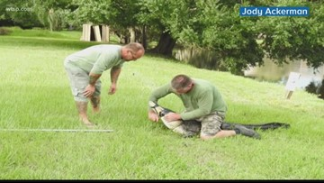 Wow Moments: Florida dad fights off gator attacking dog
