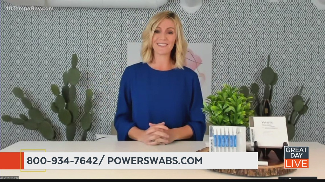 Look Younger with Brighter, Whiter Teeth from Power Swabs
