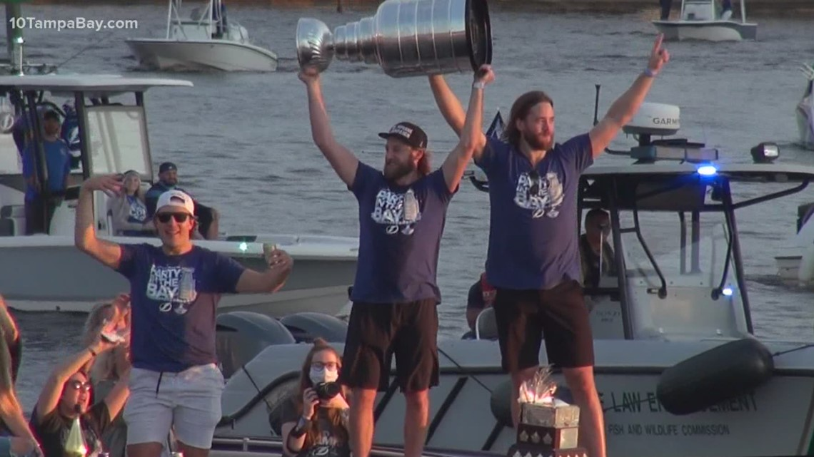 2020 Champions Boat Parade brings Stanley Cup through Tampa