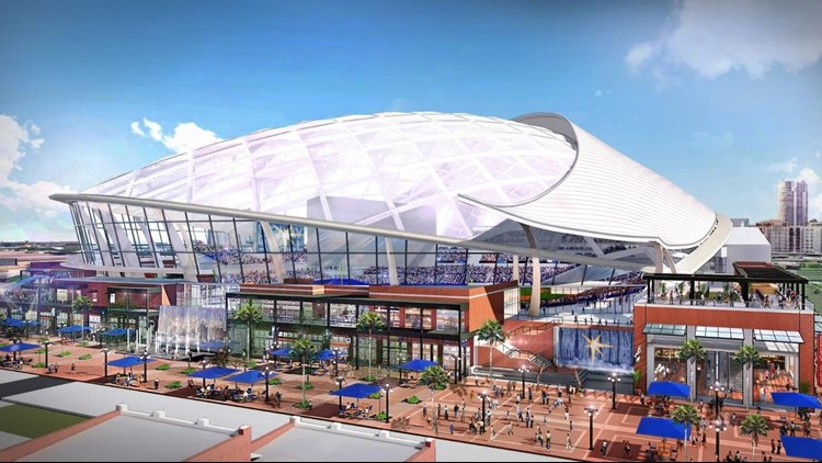 tampa bay rays 892 million stadium in ybor city 1st photos released now who pays for it wtsp com tampa bay rays 892 million stadium in