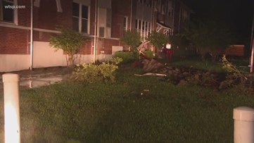 Roof ripped off Kathleen Middle School