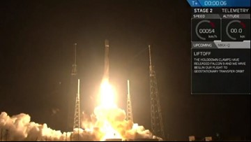 SpaceX Falcon 9 rocket launch lights up Florida sky