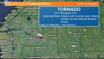 Tornado touched down in Manatee County, NWS confirms