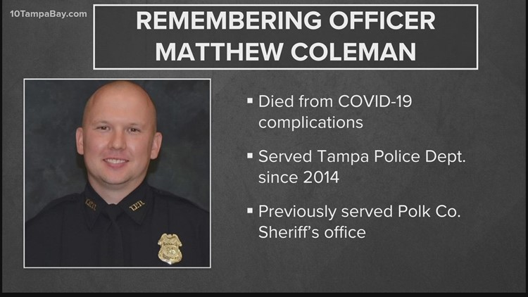 Tampa police officer dies of COVID-19 complications