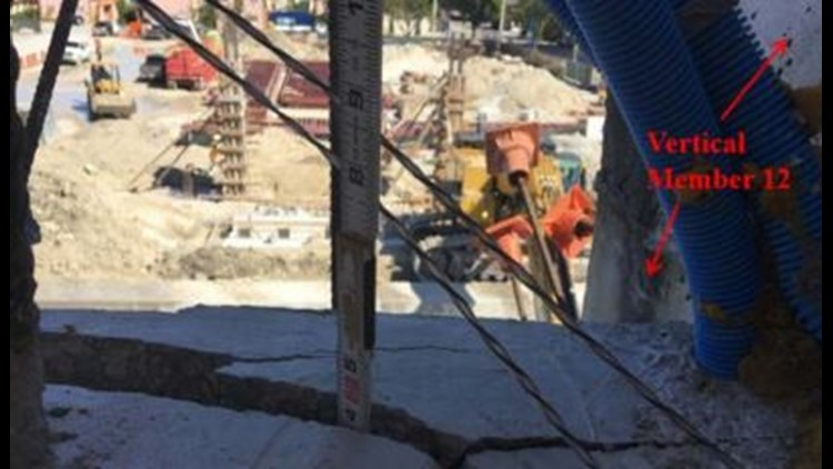 The photos showed the bridge was cracked after it was moved to the construction site.