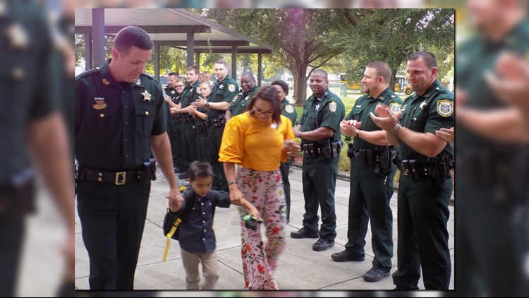 Heartwarming images show Gilchrist County deputies caring for the son of fallen Sgt. Noel Ramirez, Jr.