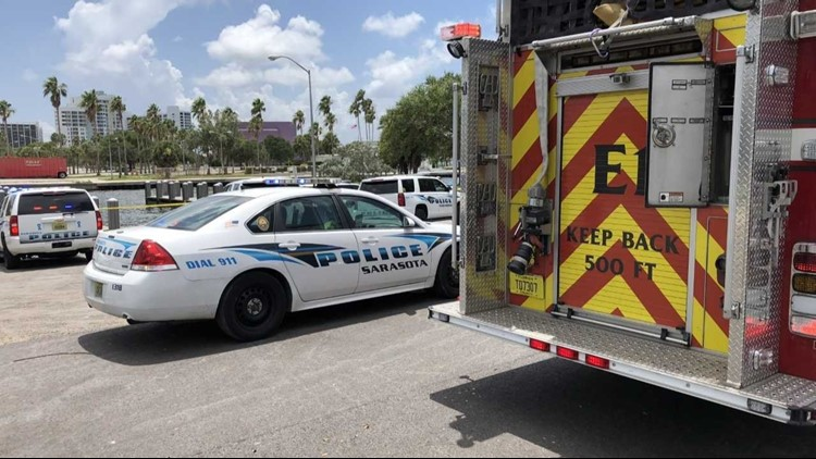 Officers said they responded to the 10th Street boat ramp after getting reports of a man in the water.