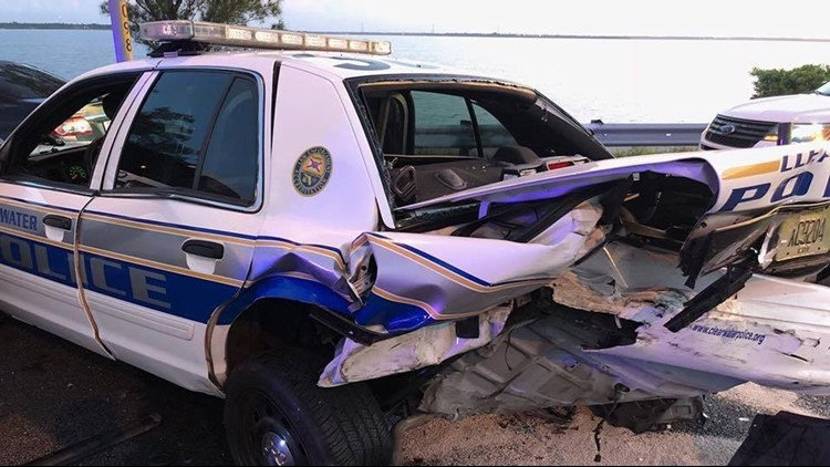 The traffic patrol operation came just hours after three Clearwater Police Department officers were injured in crashes early Saturday morning.