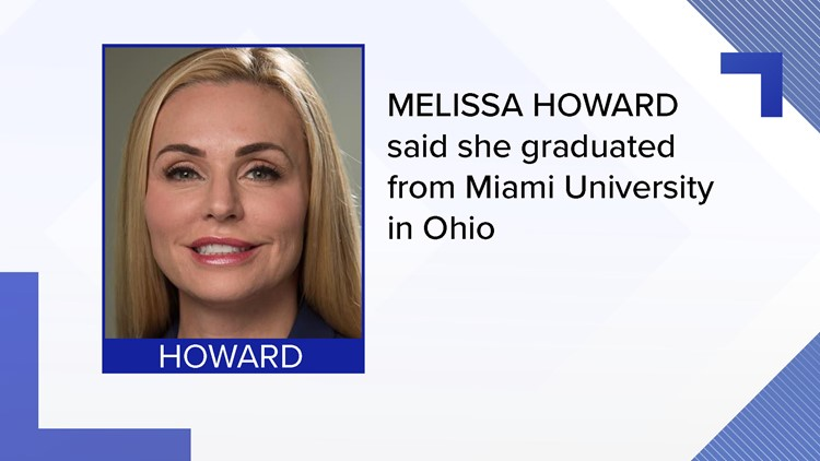 Melissa Howard has been accused of falsifying her degree from Miami University in Oxford, Ohio.