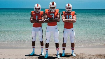 Miami Hurricanes will wear uniforms and cleats made from ocean garbage