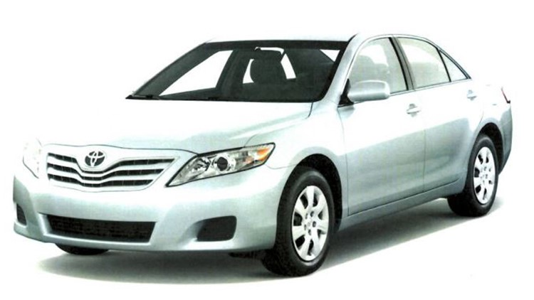 A white 2010 Toyota Camry