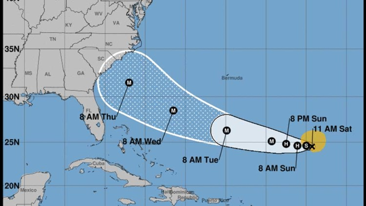 Florence strengthens to hurricane, continues trek toward U.S.