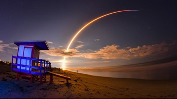 SpaceX Falcon 9 rocket delivers Canadian satellite from Cape Canaveral, lands booster