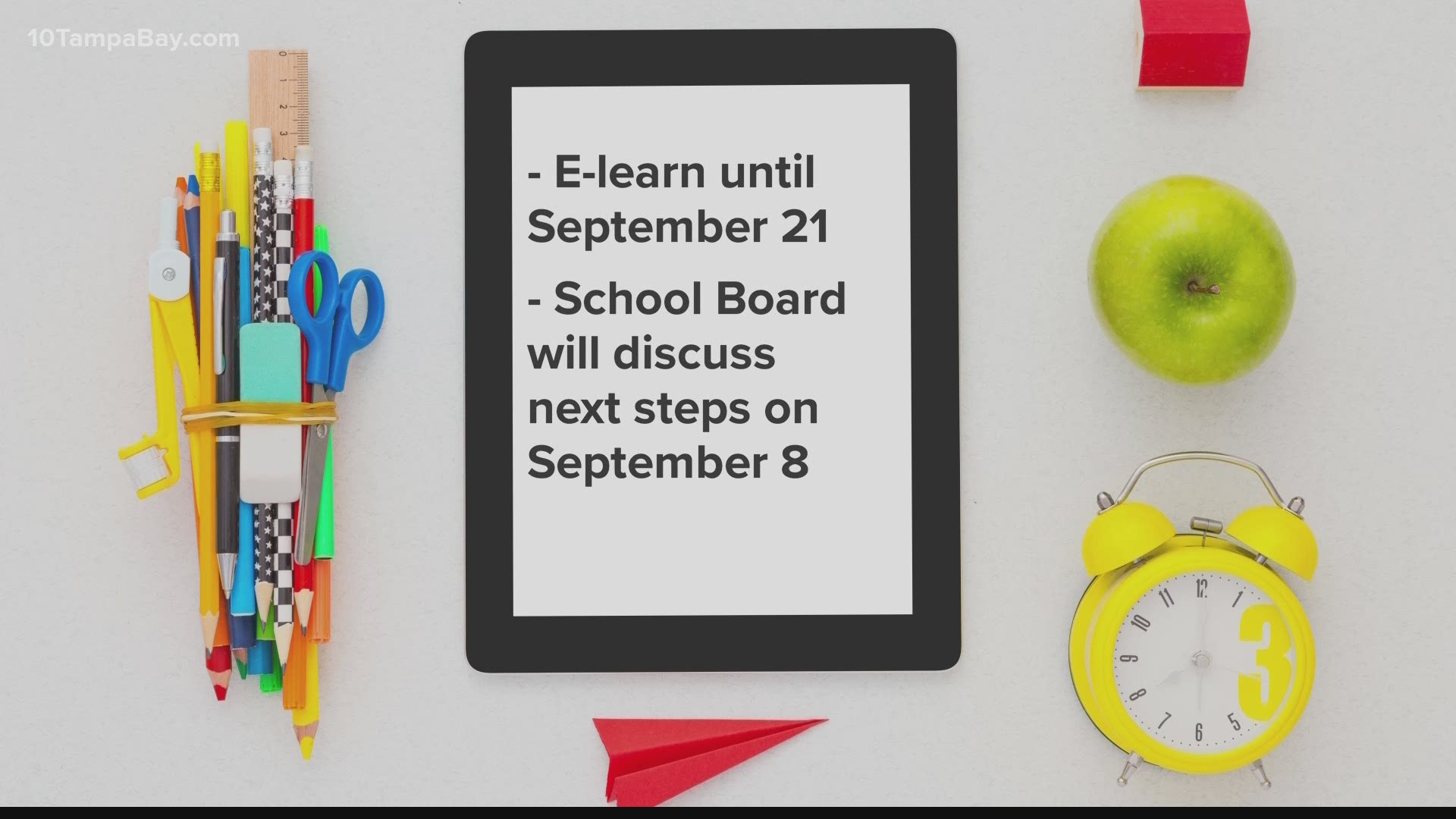Hillsborough County Schools Will Start The First 4 Weeks With E Learning Wtsp Com
