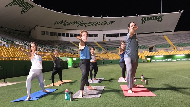 The Tampa Bay Rowdies will have check-ins for the yoga class at Gate 5 of Al Lang Stadium starting at 3:30 p.m. Saturday. The class starts at 4 p.m.