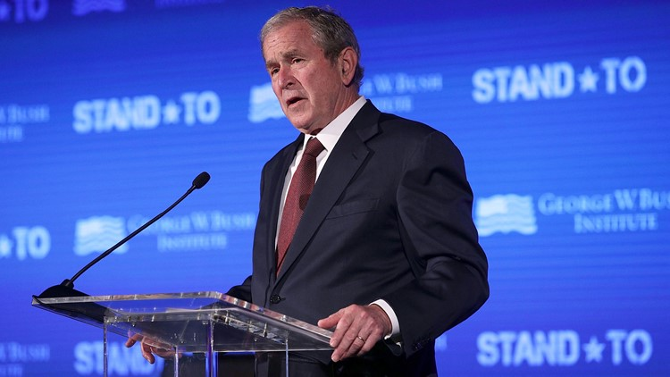 Former U.S. President George W. Bush will stop in Tampa and West Palm Beach on Friday to raise money for Gov. Rick Scott's U.S. Senate campaign.