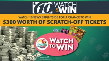 Watch 10 News to win Florida Lottery Scratch- Off Tickets!