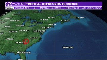 Track Tropical Depression Florence: Spaghetti models