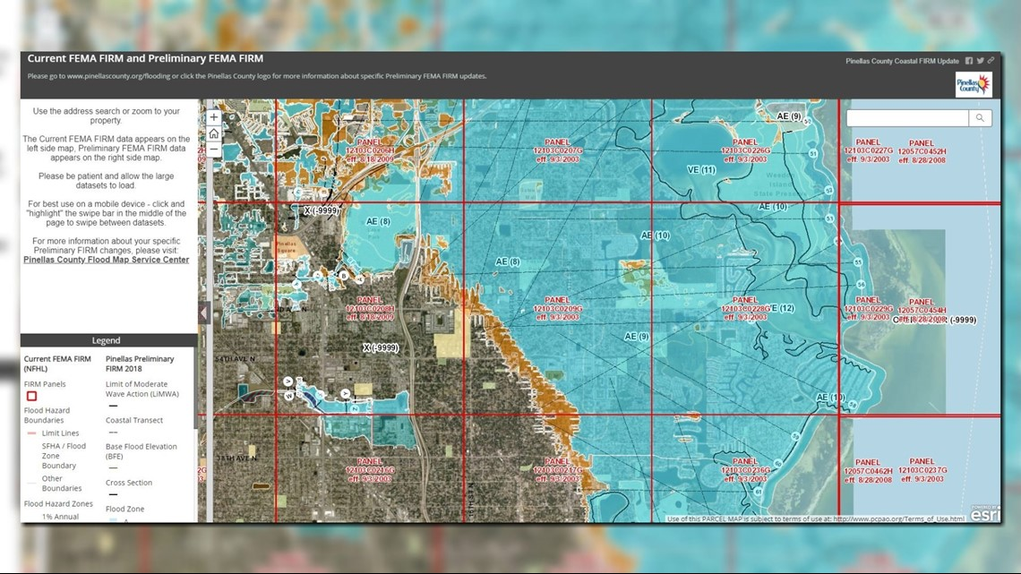 FEMA changed the flood maps in Pinellas County Here s how to see