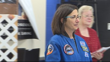 Female astronaut becomes first person to paint in space