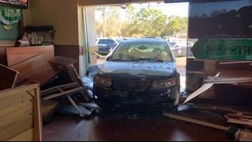 Bad brakes may have caused driver to plow into restaurant, sending 6 to the hospital