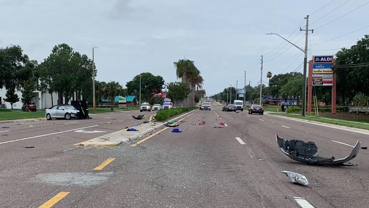 Police: Elderly St. Pete woman killed in 2-car crash