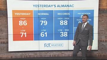10Weather: Tuesday morning forecast; Nov. 13, 2018