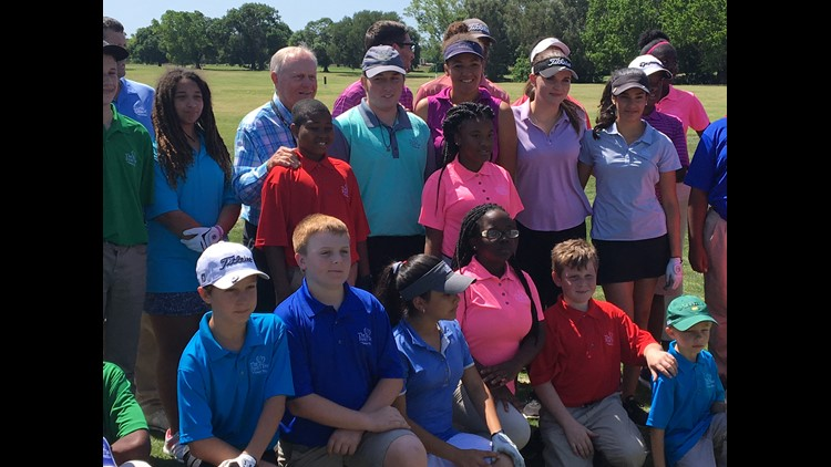 Golf legend Jack Nicklaus shared his wisdom with First Tee students.