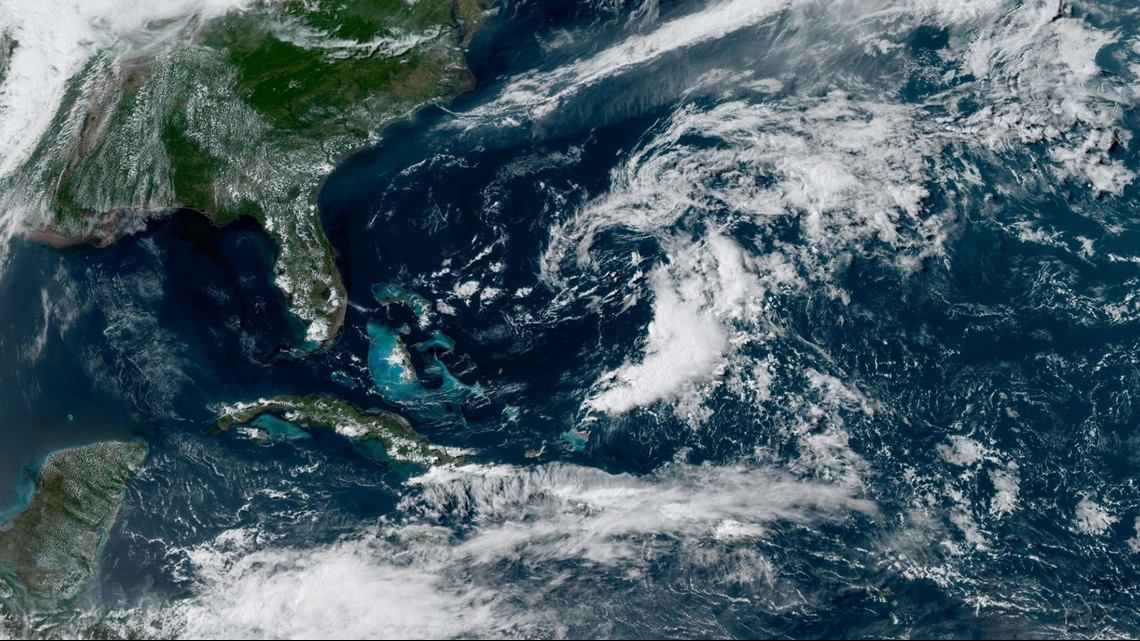 Andrea becomes a weakened, post-tropical system