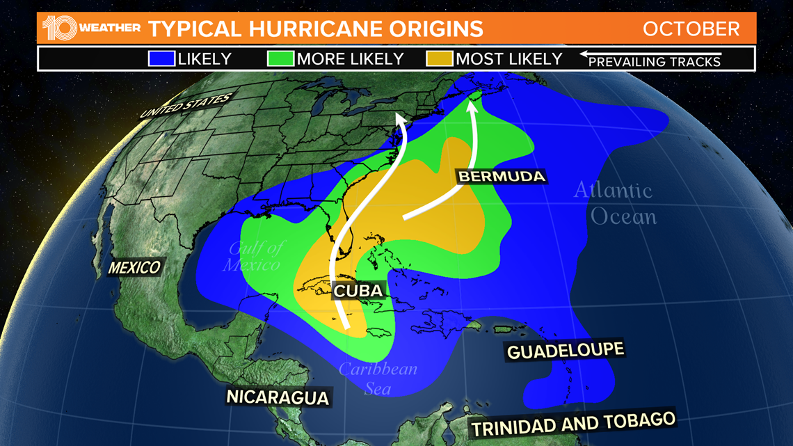 Picture of: Hurricanes In October Tend To Shift Into Gulf Of Mexico And Caribbean Wtsp Com