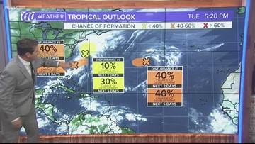There are 3 disturbances Hurricane Center forecasters are watching
