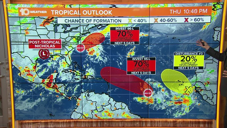 NHC monitoring 3 systems for development