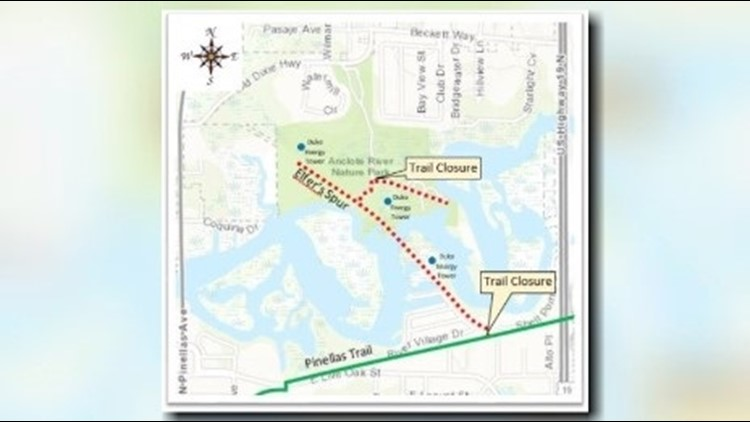 The Elfers Spur Trail and parts of the North Anclote Nature Park Trail will close Oct. 15-19.