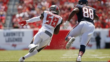 Buccaneers linebacker Kwon Alexander out the rest of the season with torn ACL