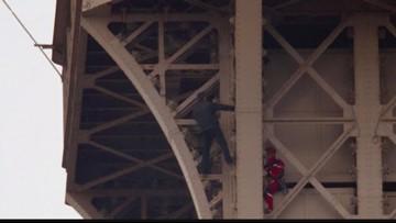 Wow Moments: Climber shuts down Eiffel Tower