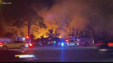 Smoke from brush fire causes traffic in Pasco County
