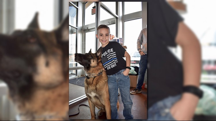 9-year-old Ohio boy is on mission to donate bulletproofvests to police K-9s