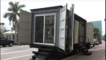 Manatee man, students turn shipping containers into homes for homeless students