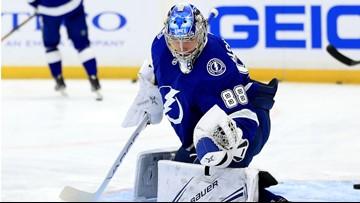 Tampa Bay Lightning goalie Andrei Vasilevskiy nears return