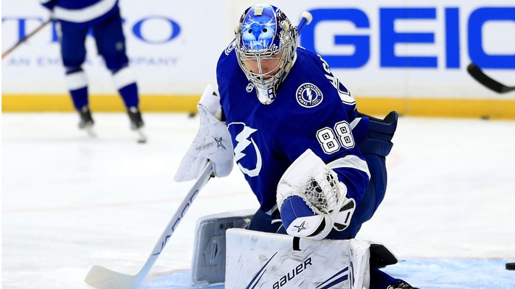 Lightning goalie Andrei Vasilevskiy 'out for awhile' with fractured foot, report says