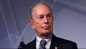 Democratic candidate Michael Bloomberg in Tampa Sunday
