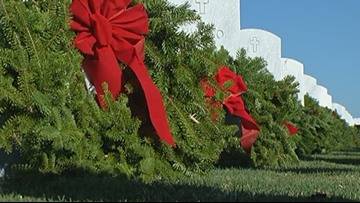 Wreaths Across America day honors veterans buried at Florida National Cemetery