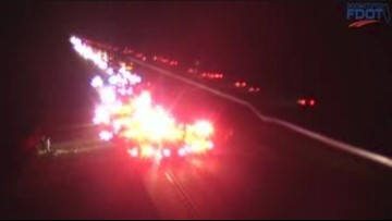 Injuries reported in crash on northbound I-75 in North Port