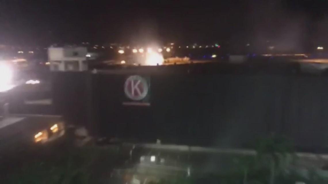Tampa International Airport implodes old parking garage